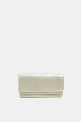 Metallic pochette in faux leather