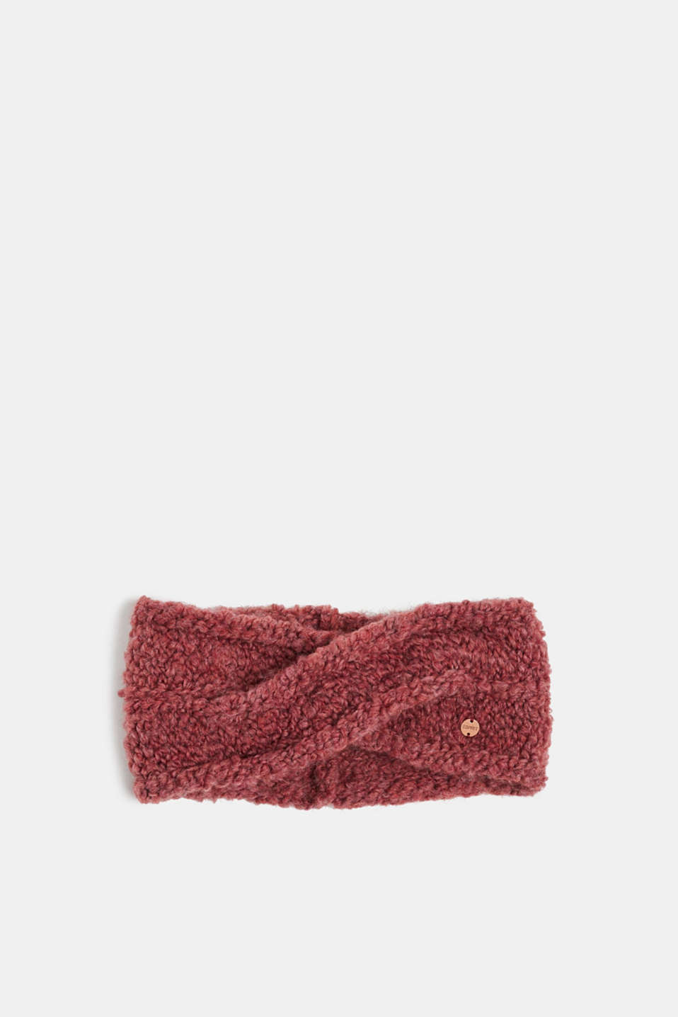 Esprit - Containing wool and alpaca: bouclé headband