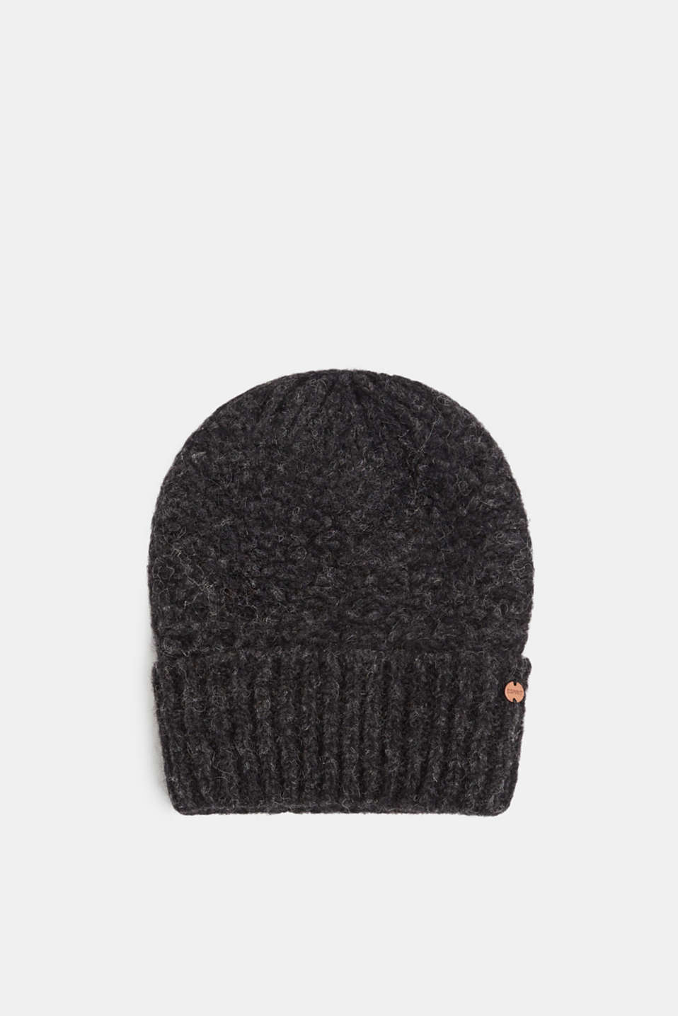 Esprit - Alpaca blend with wool: hat with a turn-up cuff