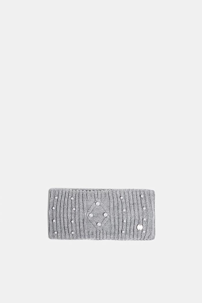 Stirnband mit Perlen-Besatz, GREY, detail image number 0