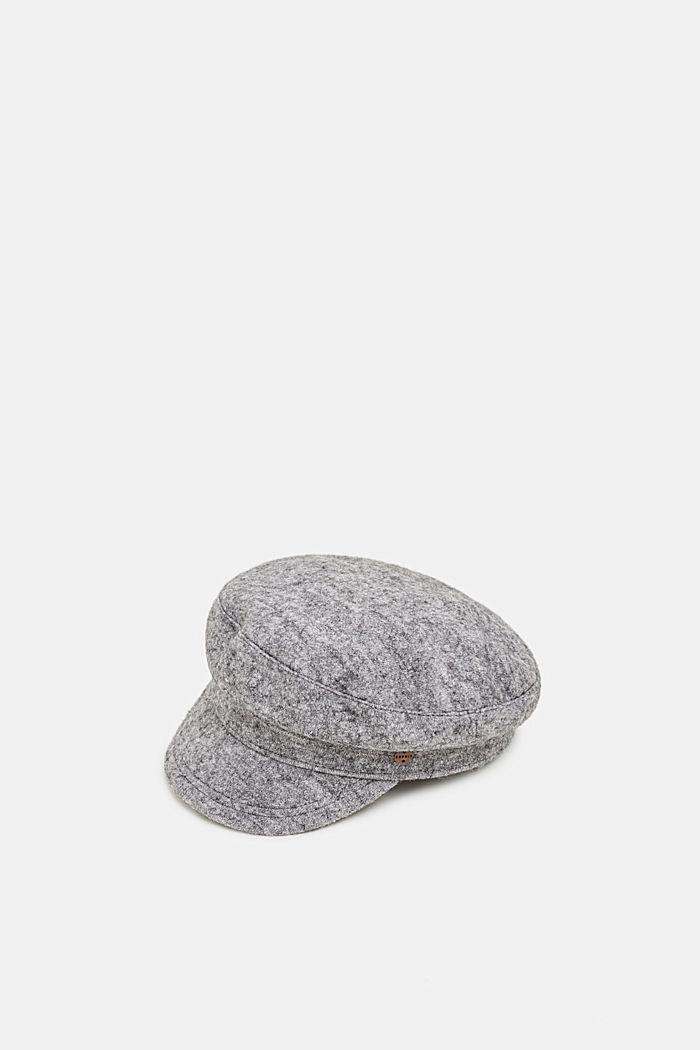 Wool blend: sailor's cap, GREY, detail image number 0
