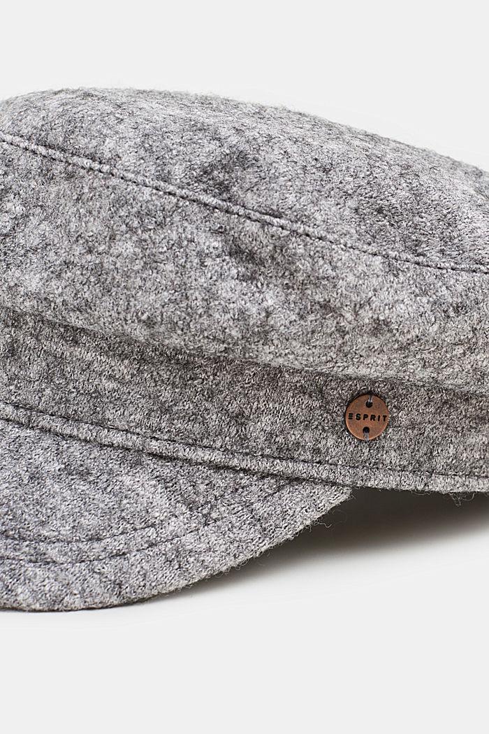 Wool blend: sailor's cap, GREY, detail image number 1