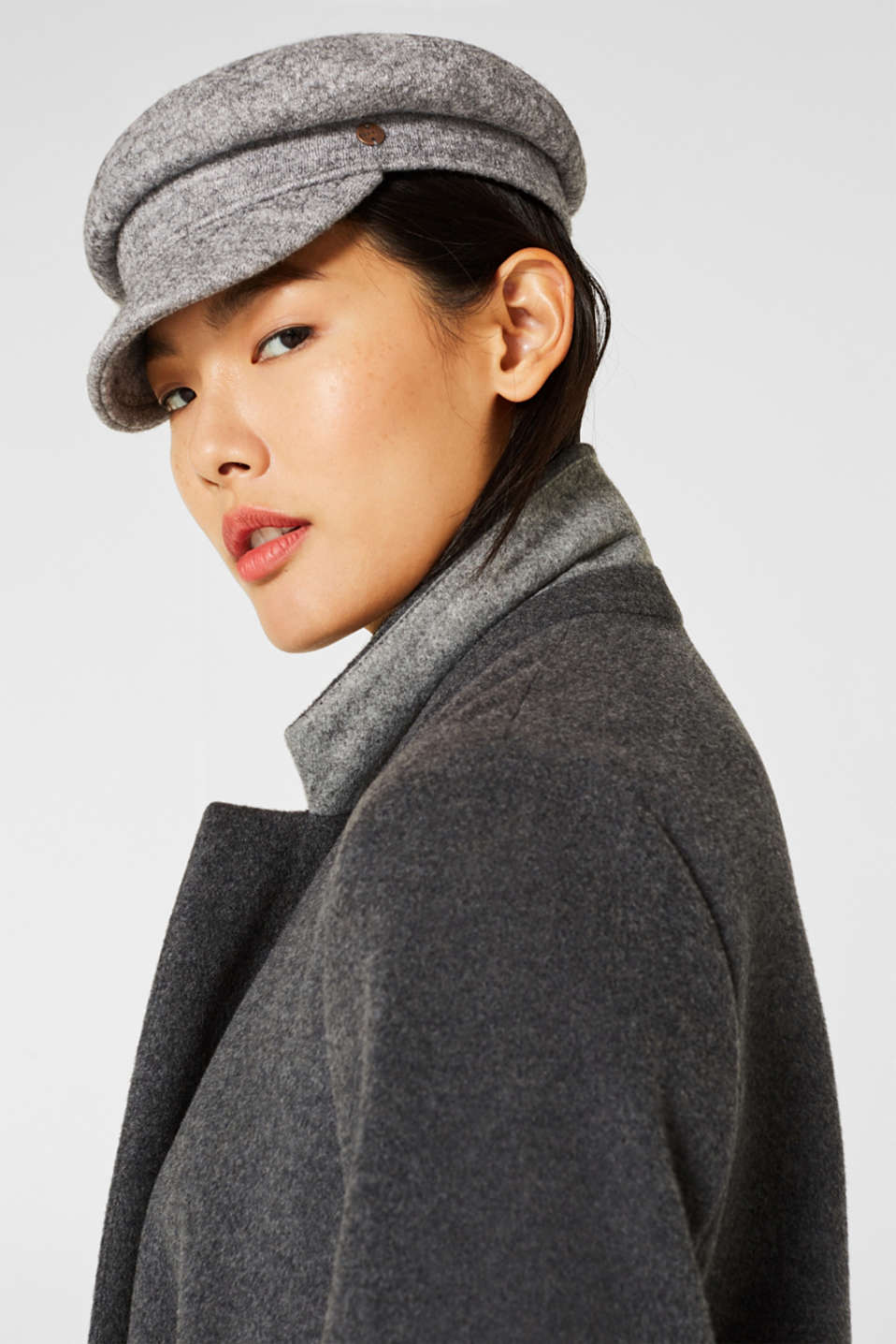 Wool blend: sailor's cap, GREY, detail image number 2