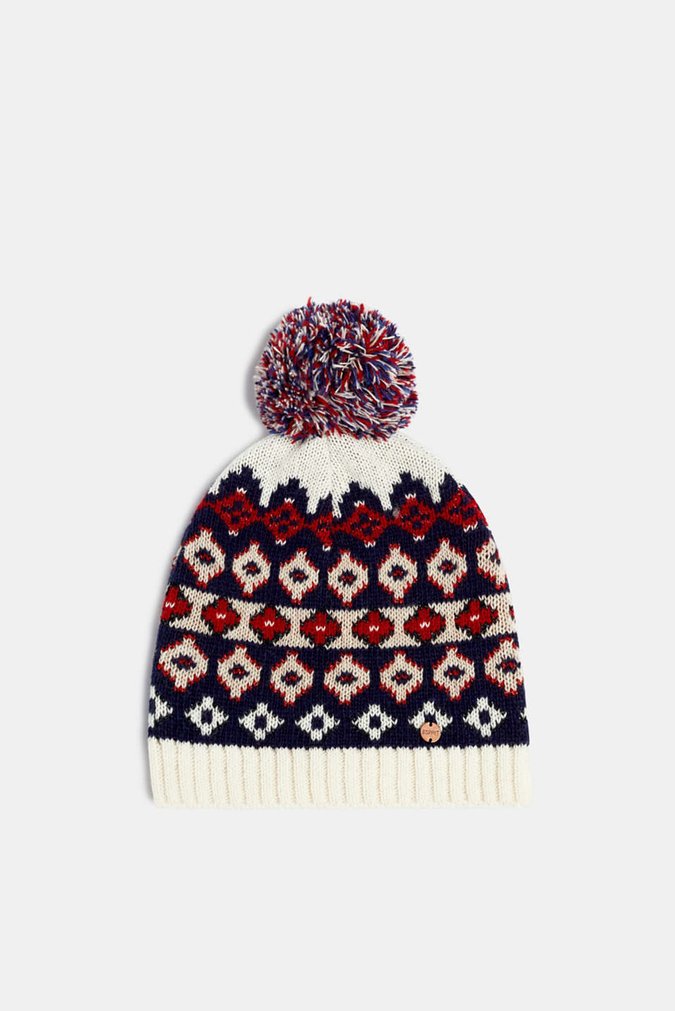 Esprit - With wool: Beanie with an Xmas motif