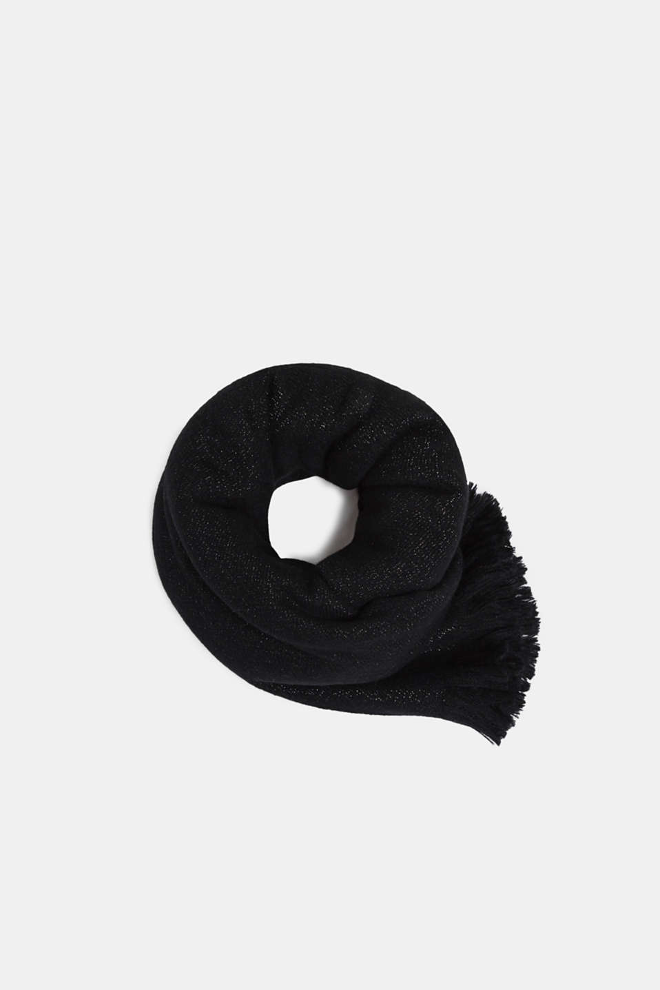 Shawls/Scarves, BLACK, detail image number 0
