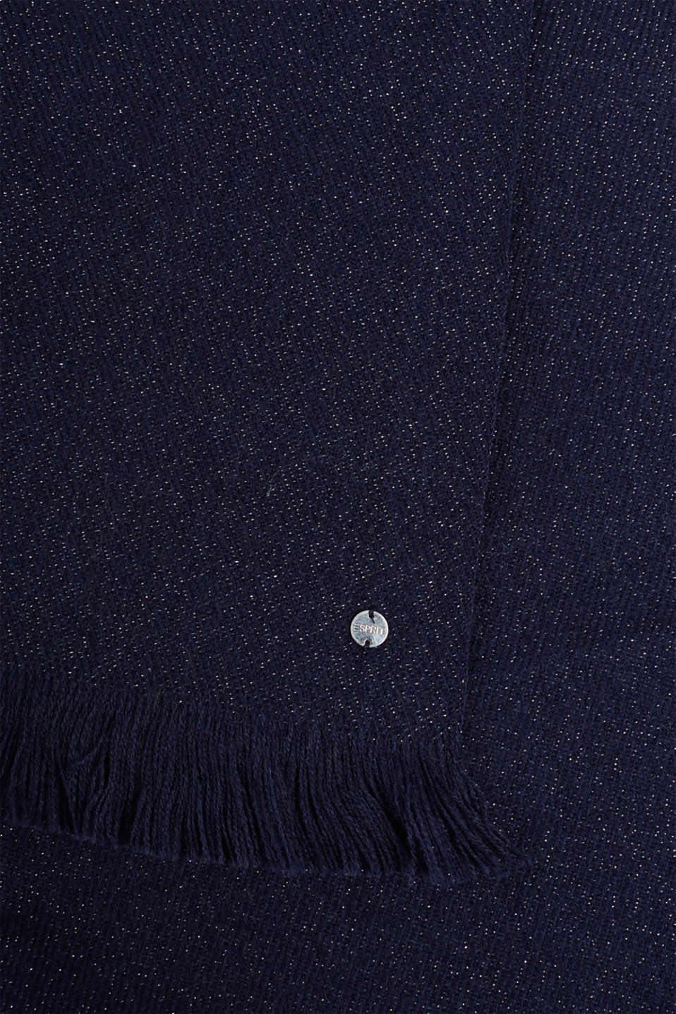 Scarf with glitter, NAVY, detail image number 2