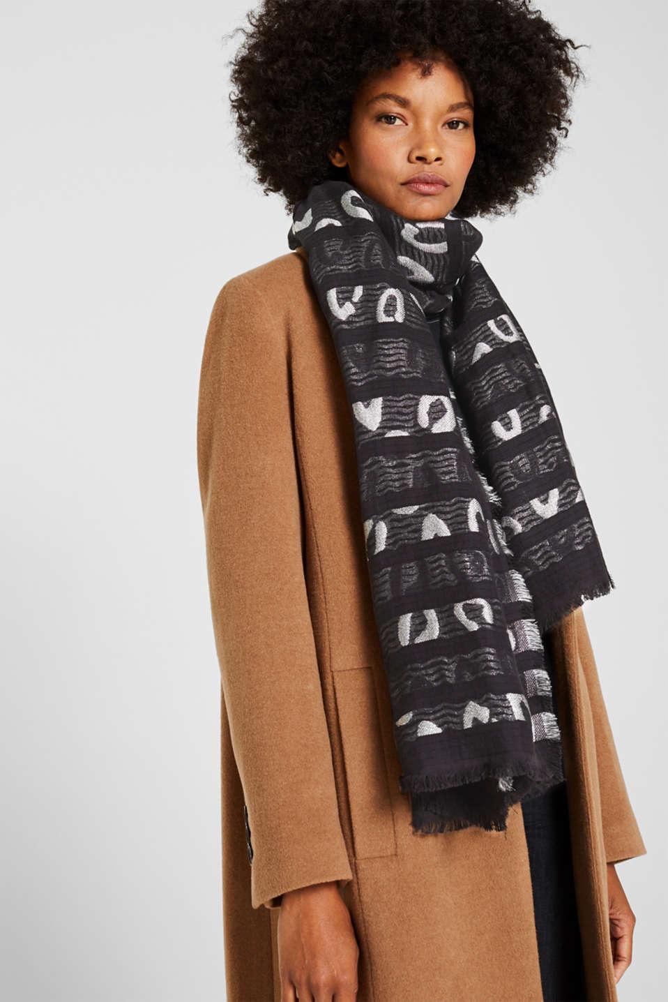 Shawls/Scarves, BLACK, detail image number 1