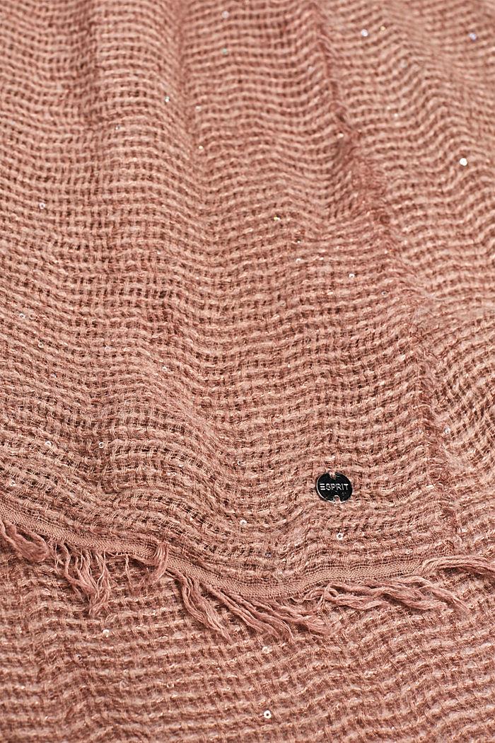 Tørklæde med pailletter, af italiensk garn, DUSTY NUDE, detail image number 1