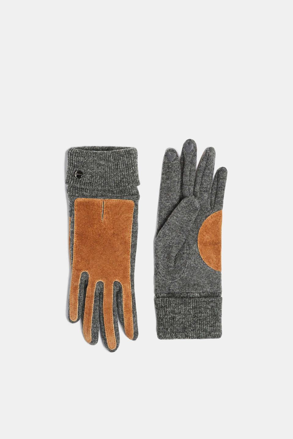 Gloves leather, CARAMEL, detail image number 0