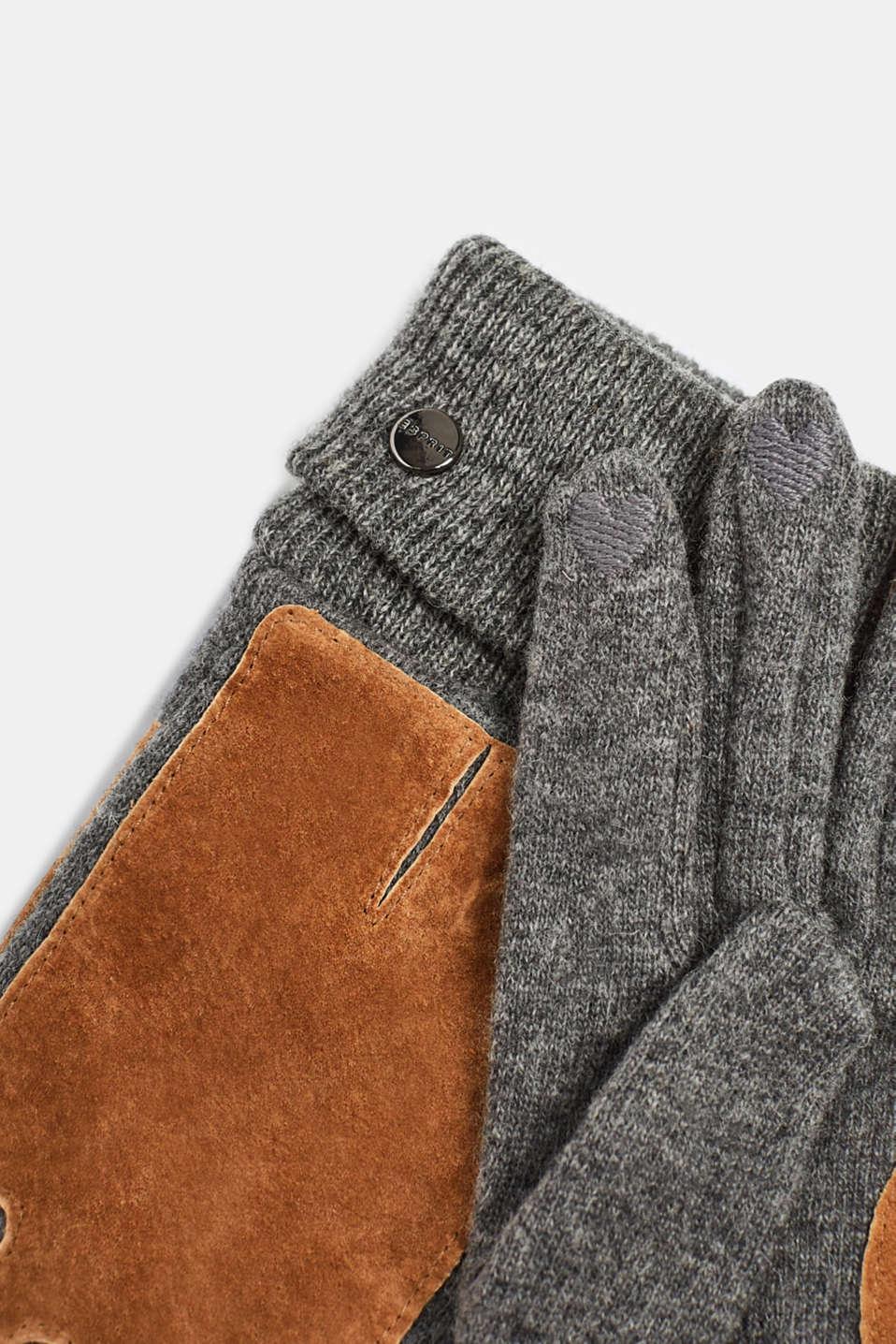 Gloves leather, CARAMEL, detail image number 1