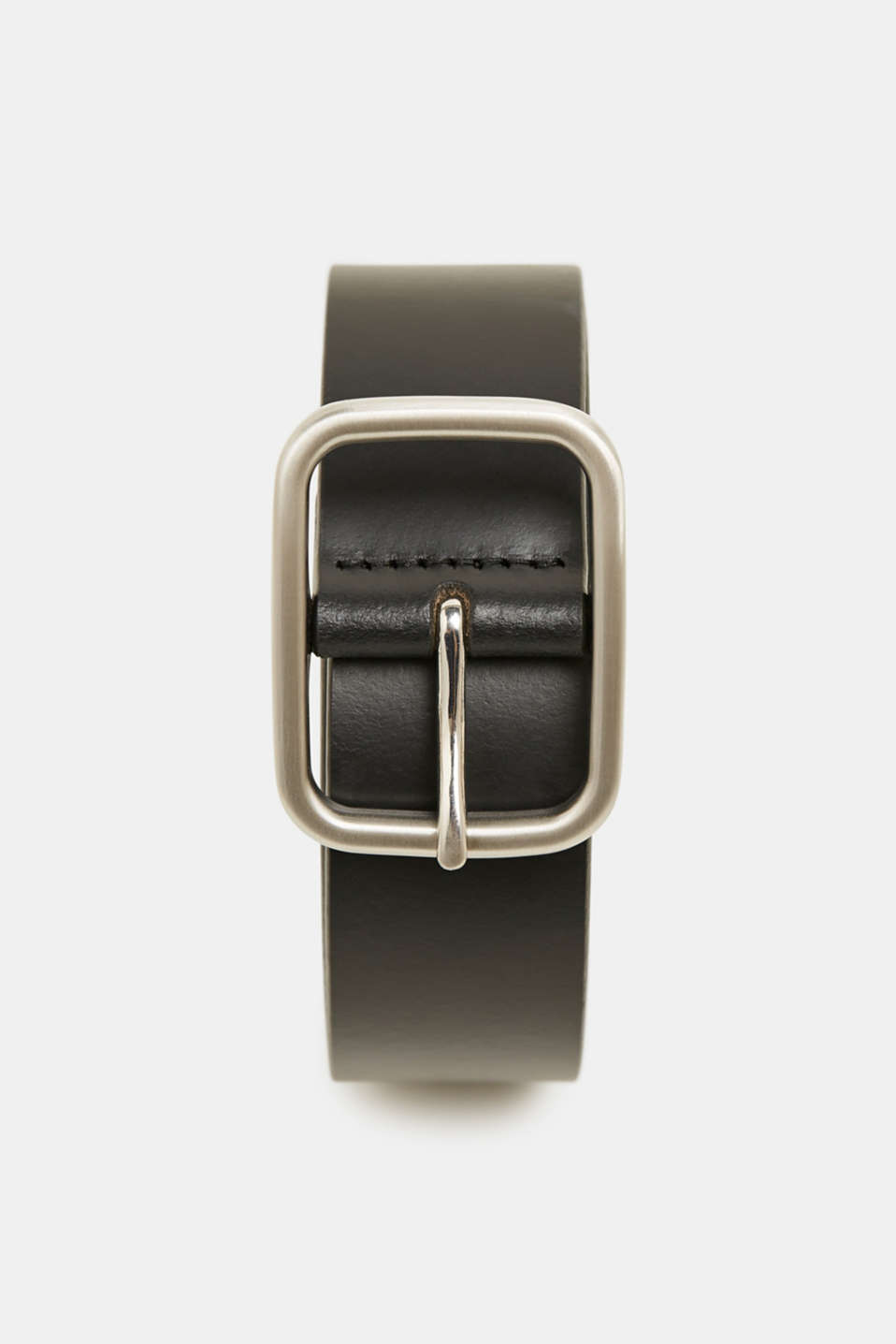 Leather belt, BLACK, detail image number 0