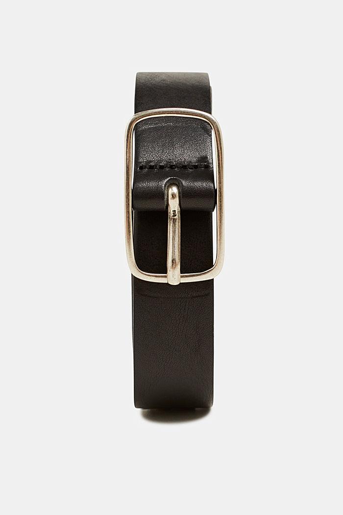 Aus Leder: Gürtel im Vintage-Look, BLACK, detail image number 0