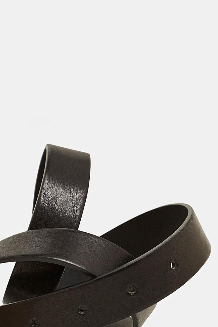 Aus Leder: Gürtel im Vintage-Look, BLACK, detail image number 1