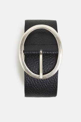 Leather hip belt, BLACK, detail