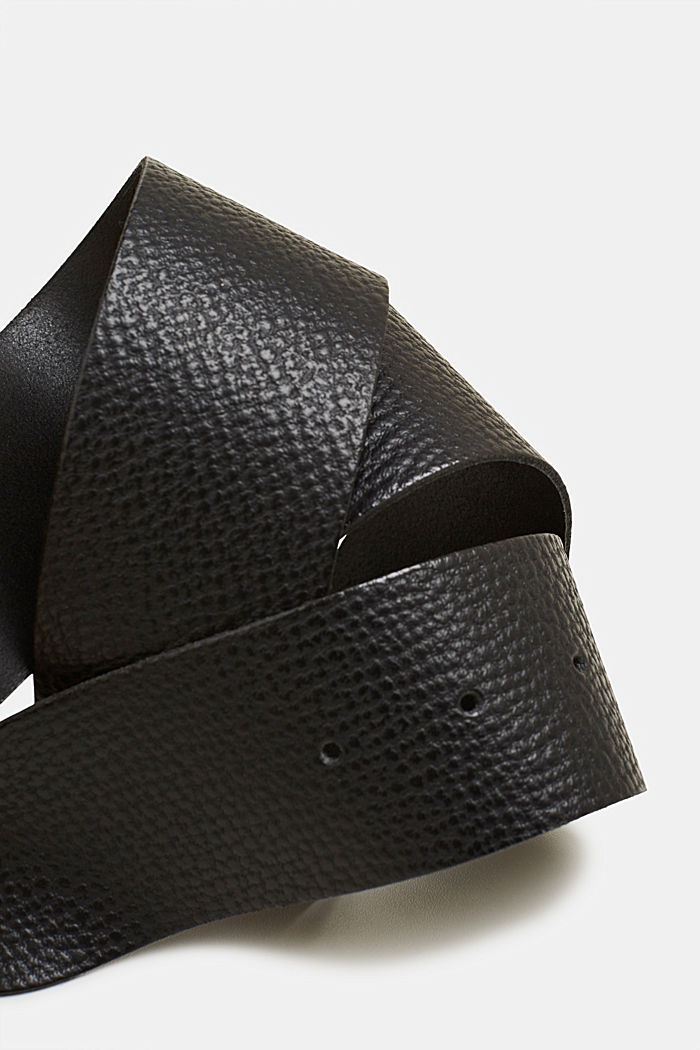 Nahkainen lantiovyö, BLACK, detail image number 1