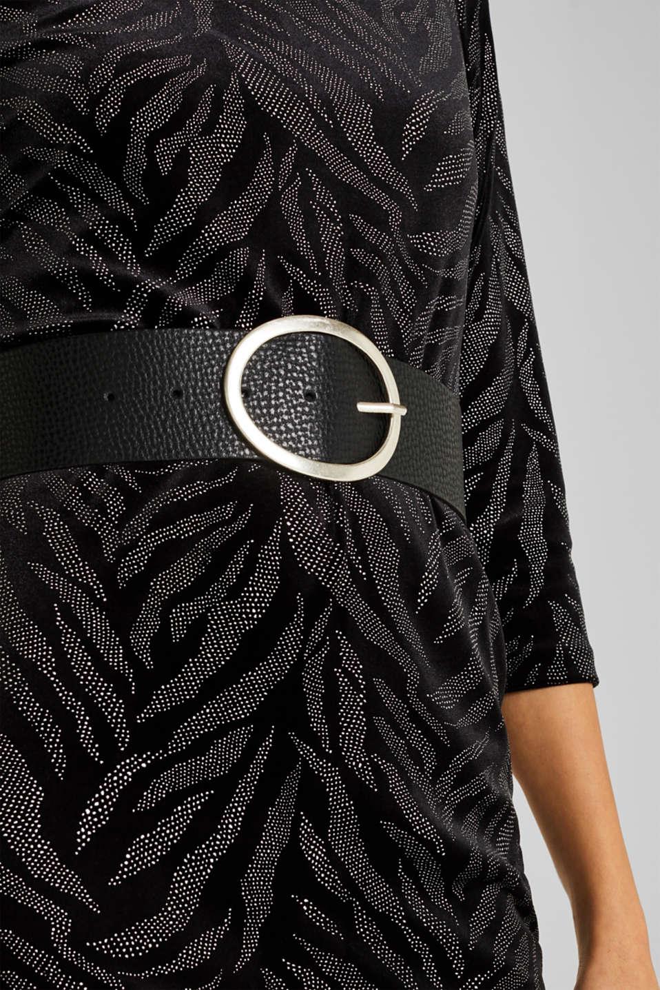 Leather hip belt, BLACK, detail image number 2