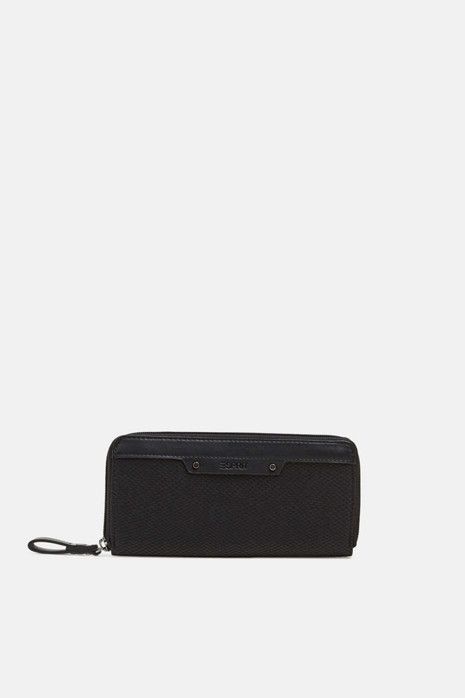 Wallet in an exotic look, BLACK, detail image number 0
