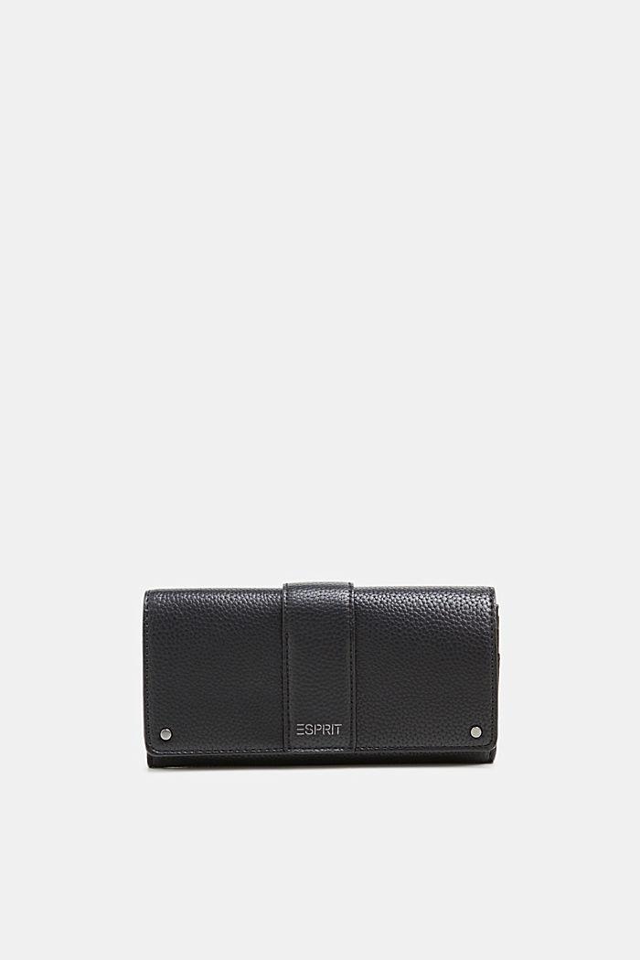 Imitatieleren portemonnee, BLACK, detail image number 0