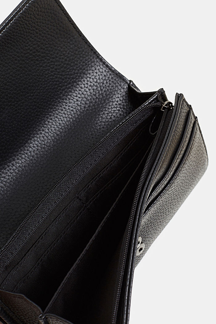 Faux leather purse, BLACK, detail image number 3