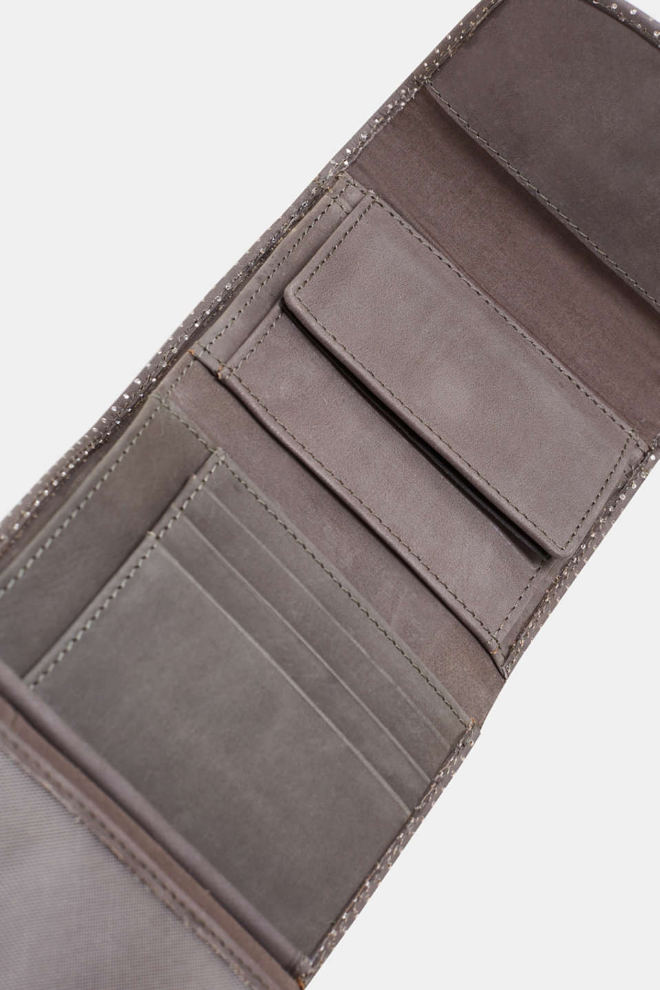 Leather purse, ANTHRACITE, detail image number 3