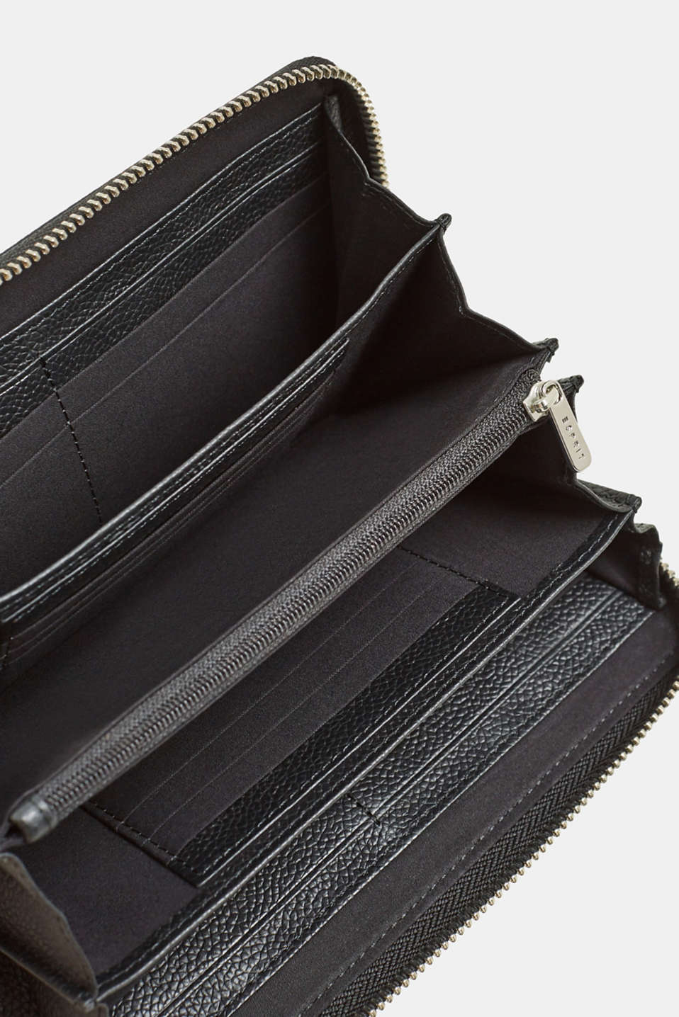 Leather purse, BLACK, detail image number 3