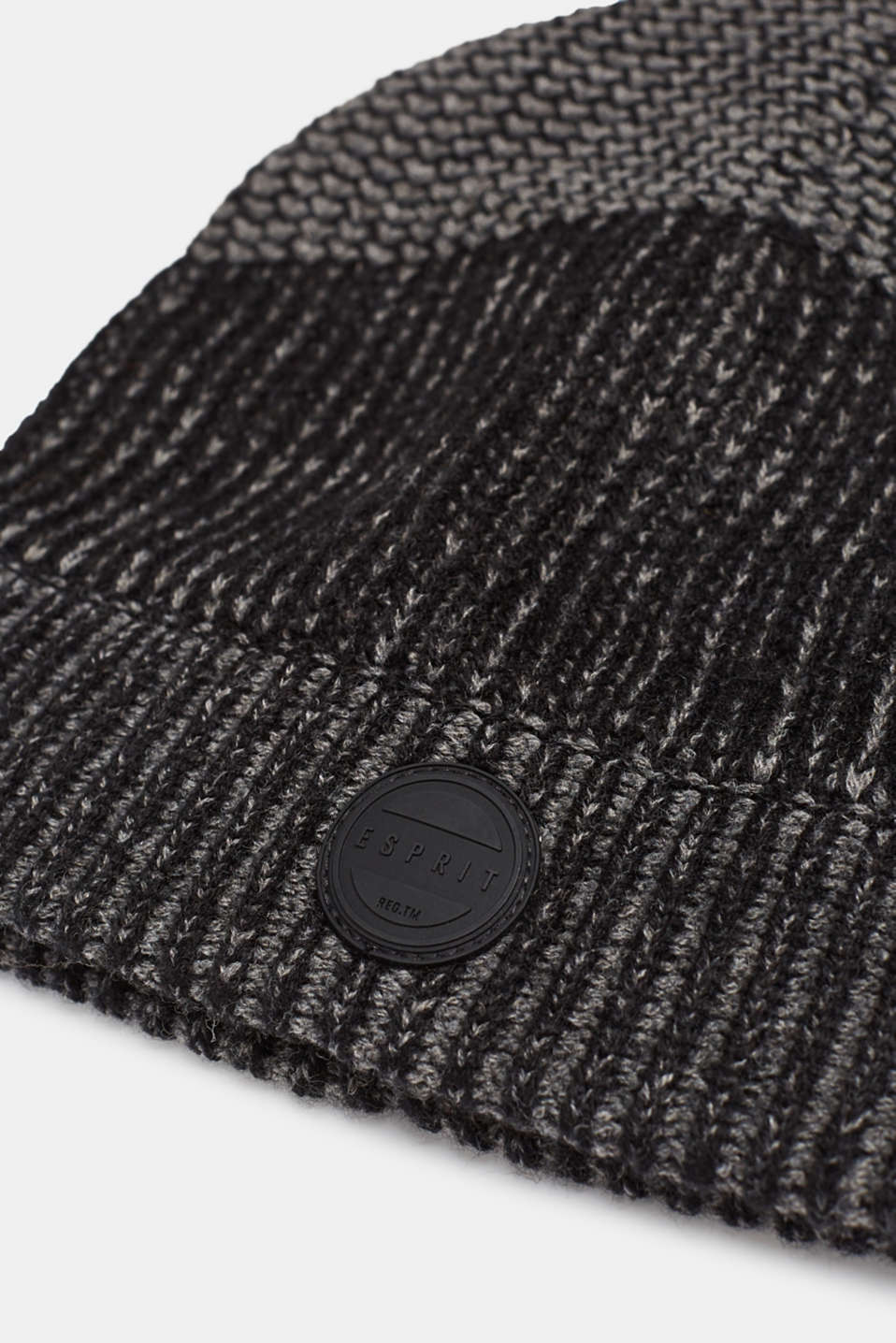 Textured knit beanie, DARK GREY, detail image number 1