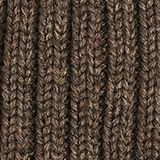 Containing wool: cap with a ribbed pattern, BROWN, swatch