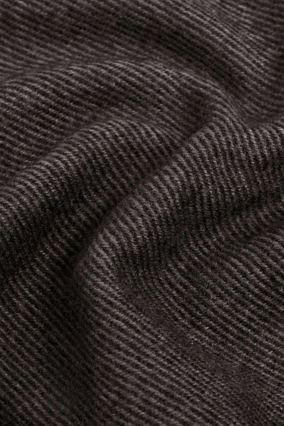 Textured knit scarf, DARK GREY, detail image number 2