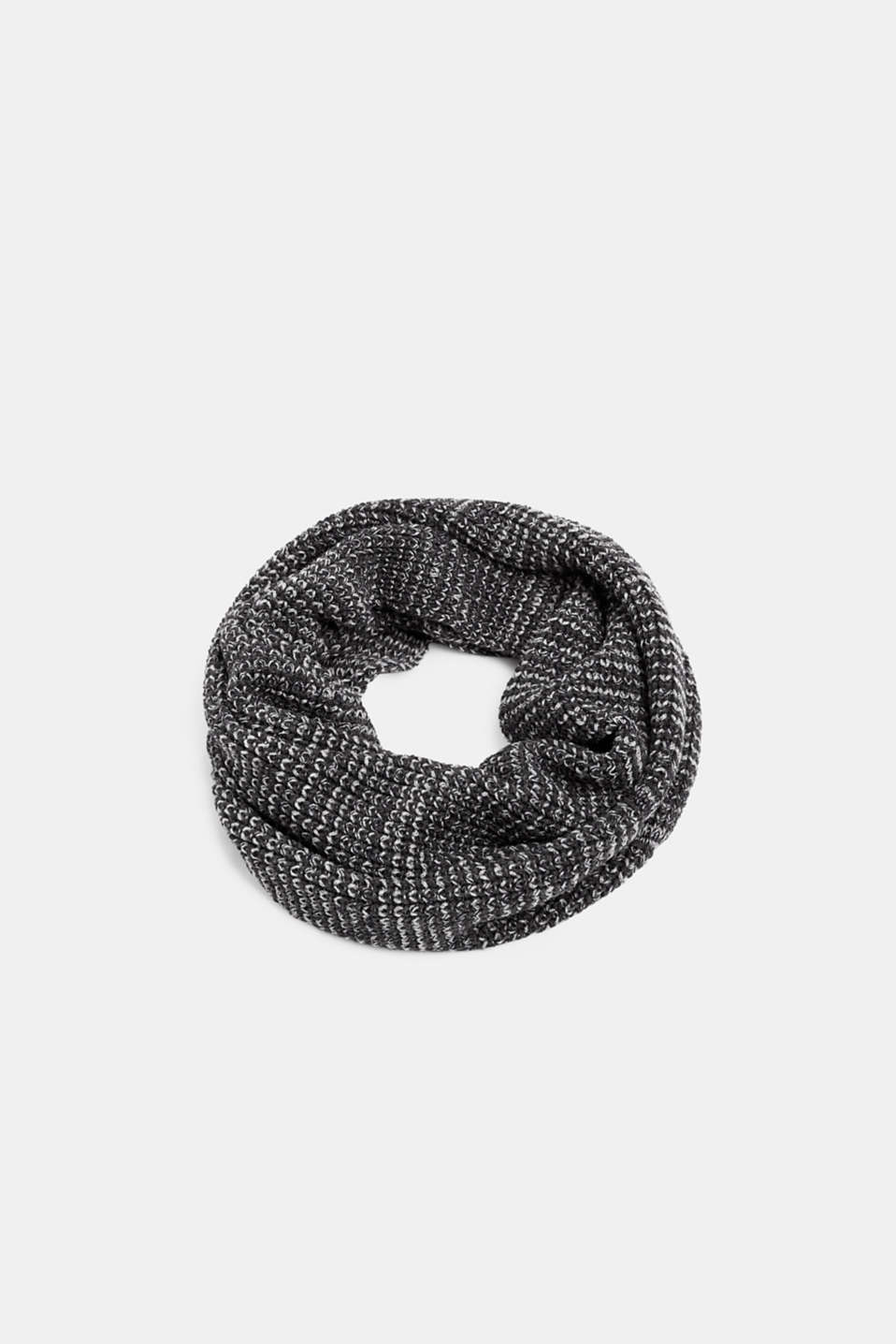 Textured knit snood, DARK GREY, detail image number 0