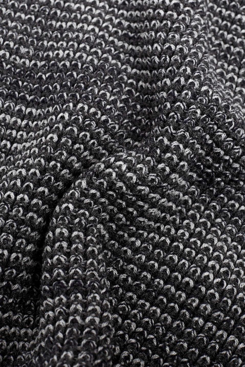 Textured knit snood, DARK GREY, detail image number 2