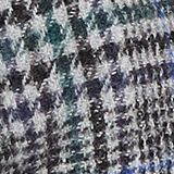 Prince of Wales check scarf with fringing, MEDIUM GREY, swatch