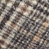 Prince of Wales check scarf with fringing, BROWN, swatch