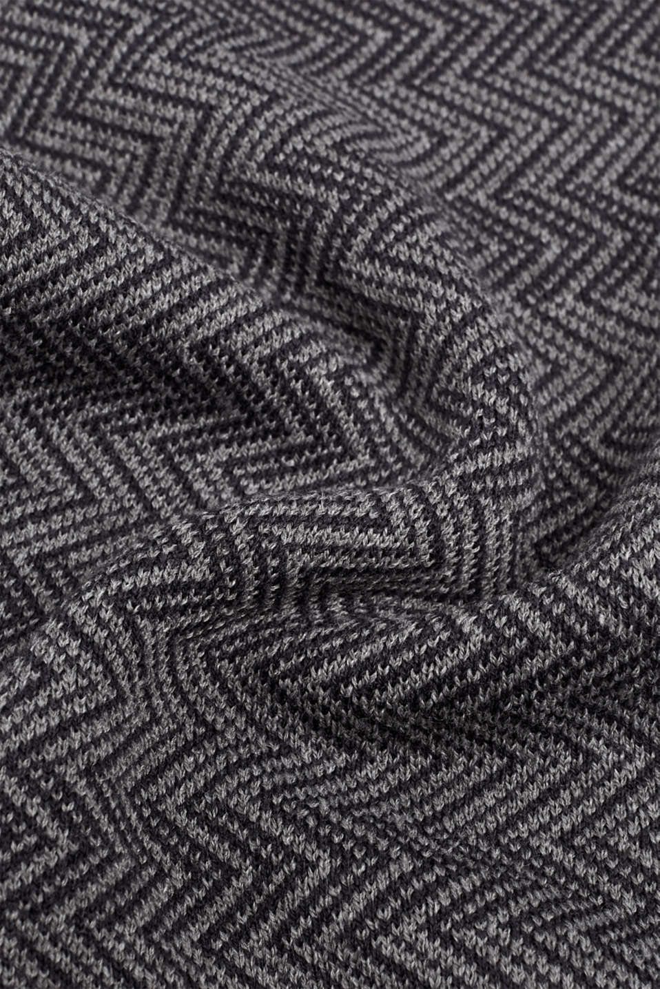 Scarf with a herringbone pattern, GREY, detail image number 2