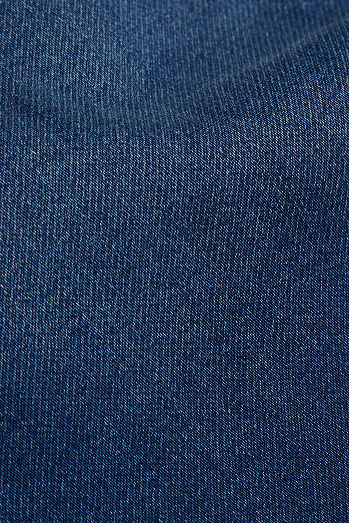 Tracksuit bottom jeans with decorative stitching, BLUE MEDIUM WASHED, detail image number 4