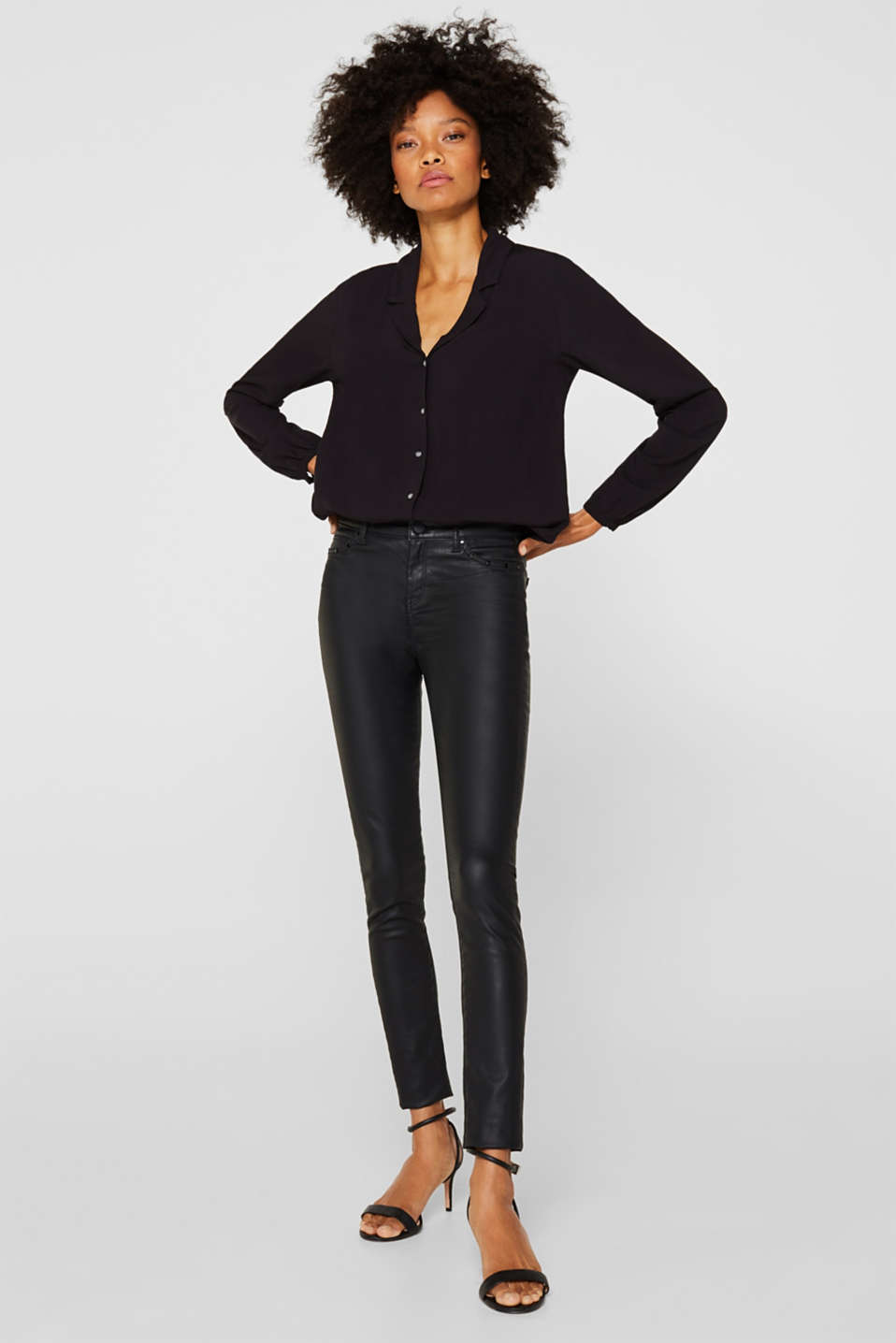 Esprit - Coated Stretch-Pants
