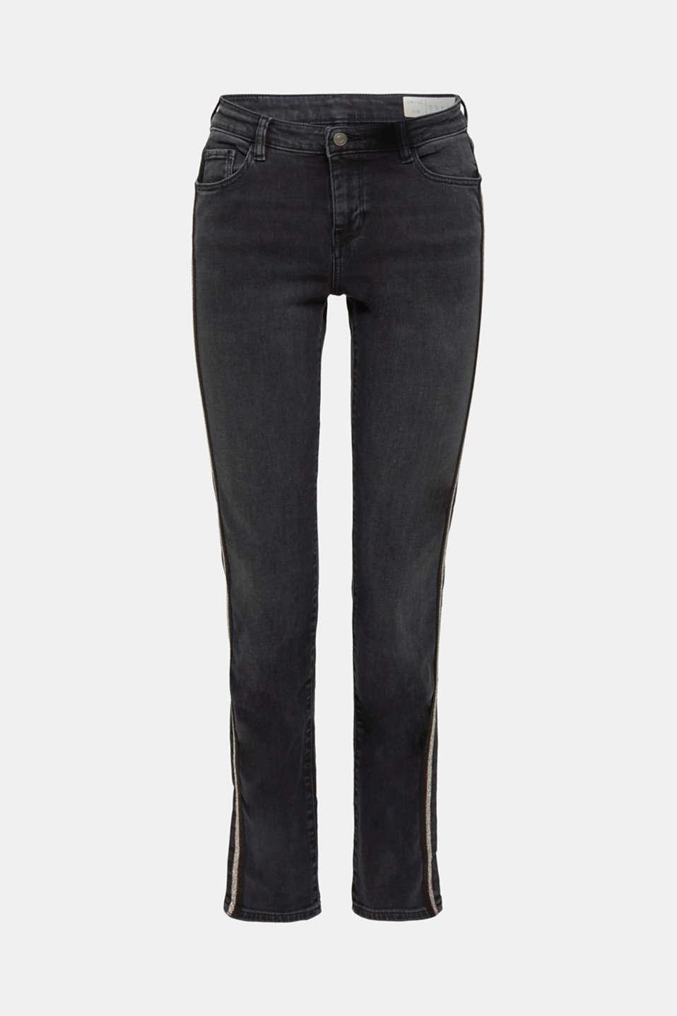 Pants denim, BLACK DARK WASH, detail image number 7