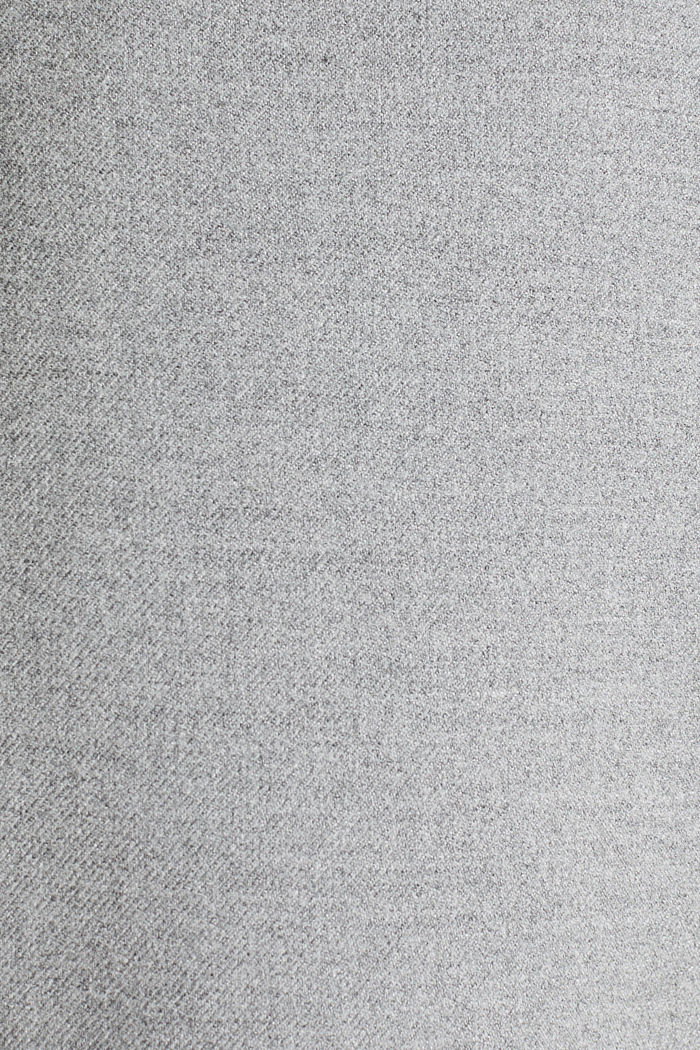 Ankle-length trousers made of flannel, LIGHT GREY, detail image number 4