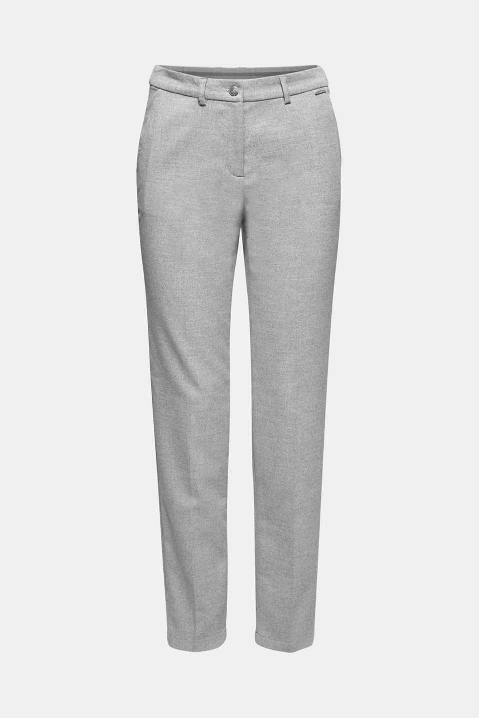 Pants woven, LIGHT GREY, detail image number 5