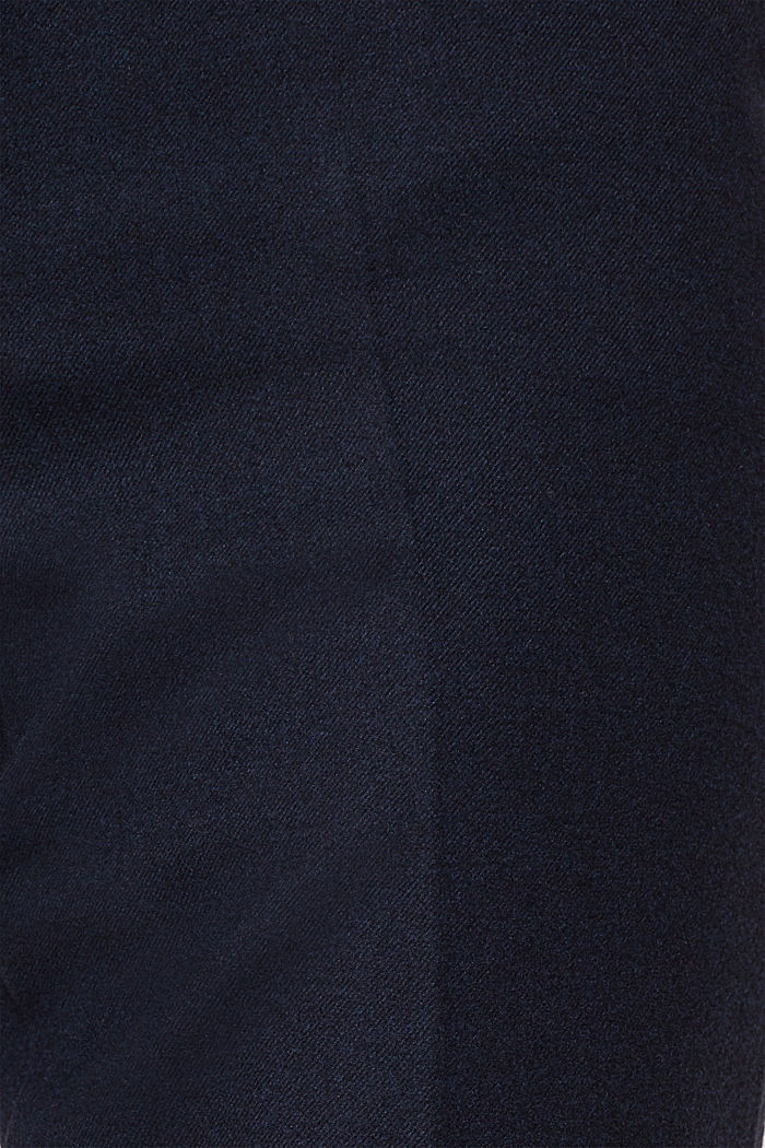 Ankle-length trousers made of flannel, NAVY, detail image number 4