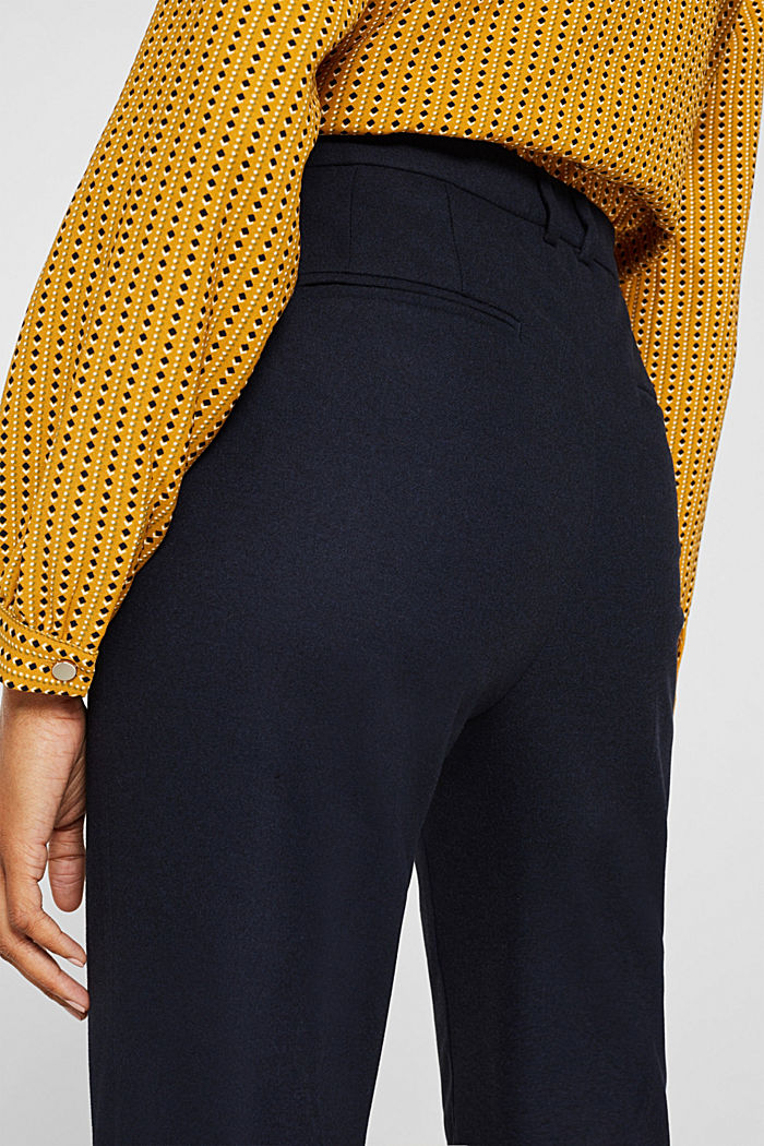 Ankle-length trousers made of flannel, NAVY, detail image number 5
