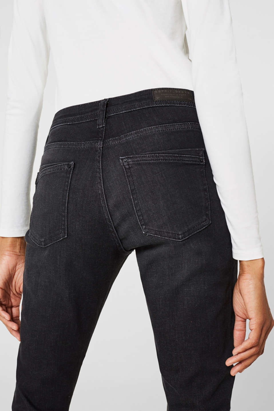 Pants denim, BLACK DARK WASH, detail image number 4