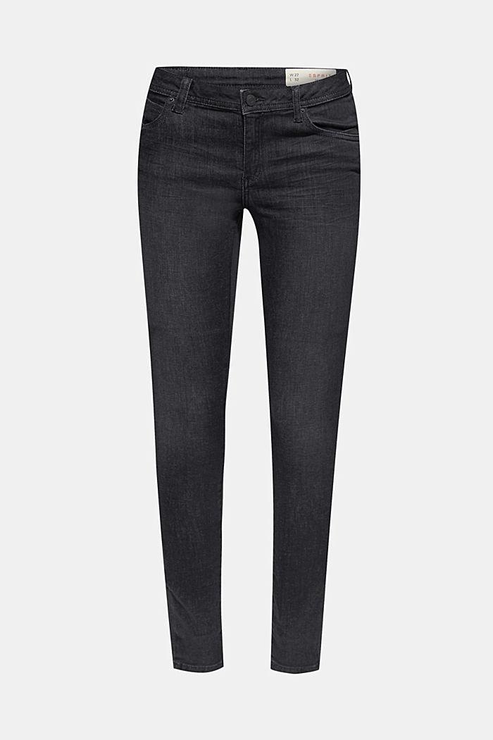 Super-comfortable stretch jeans, BLACK DARK WASHED, detail image number 0