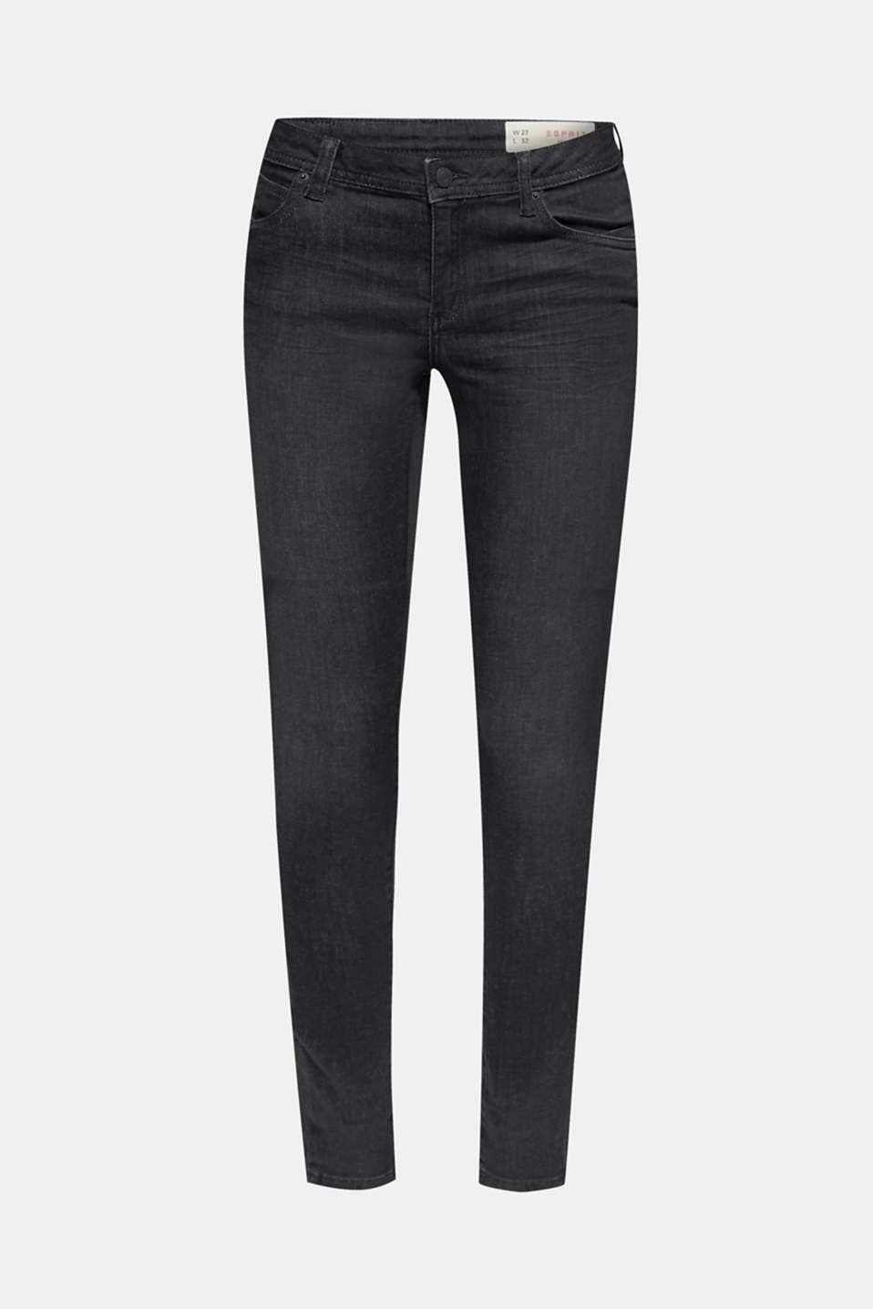 Pants denim, BLACK DARK WASH, detail image number 6