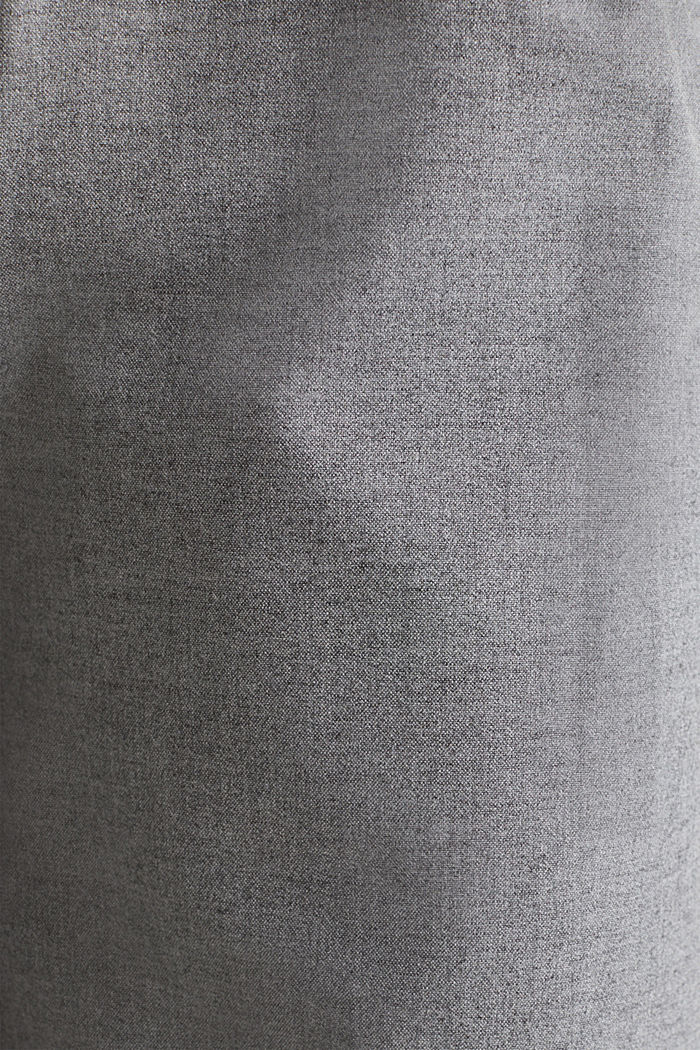 With wool: Culottes with waist pleats, LIGHT GREY, detail image number 4