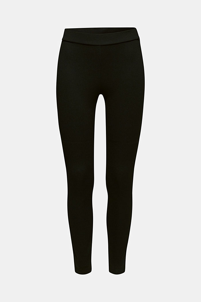 Treggings with glittering stripes, BLACK, detail image number 7