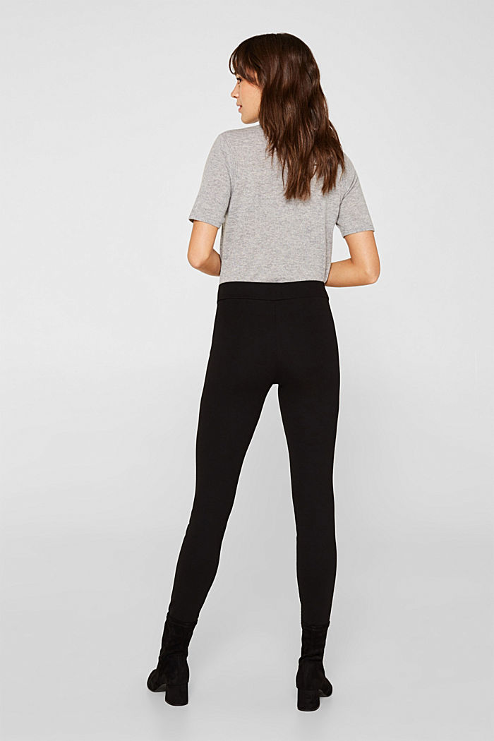 Treggings with a print and zips, BLACK, detail image number 3