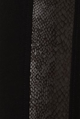 Treggings with details in a reptile look, BLACK, detail