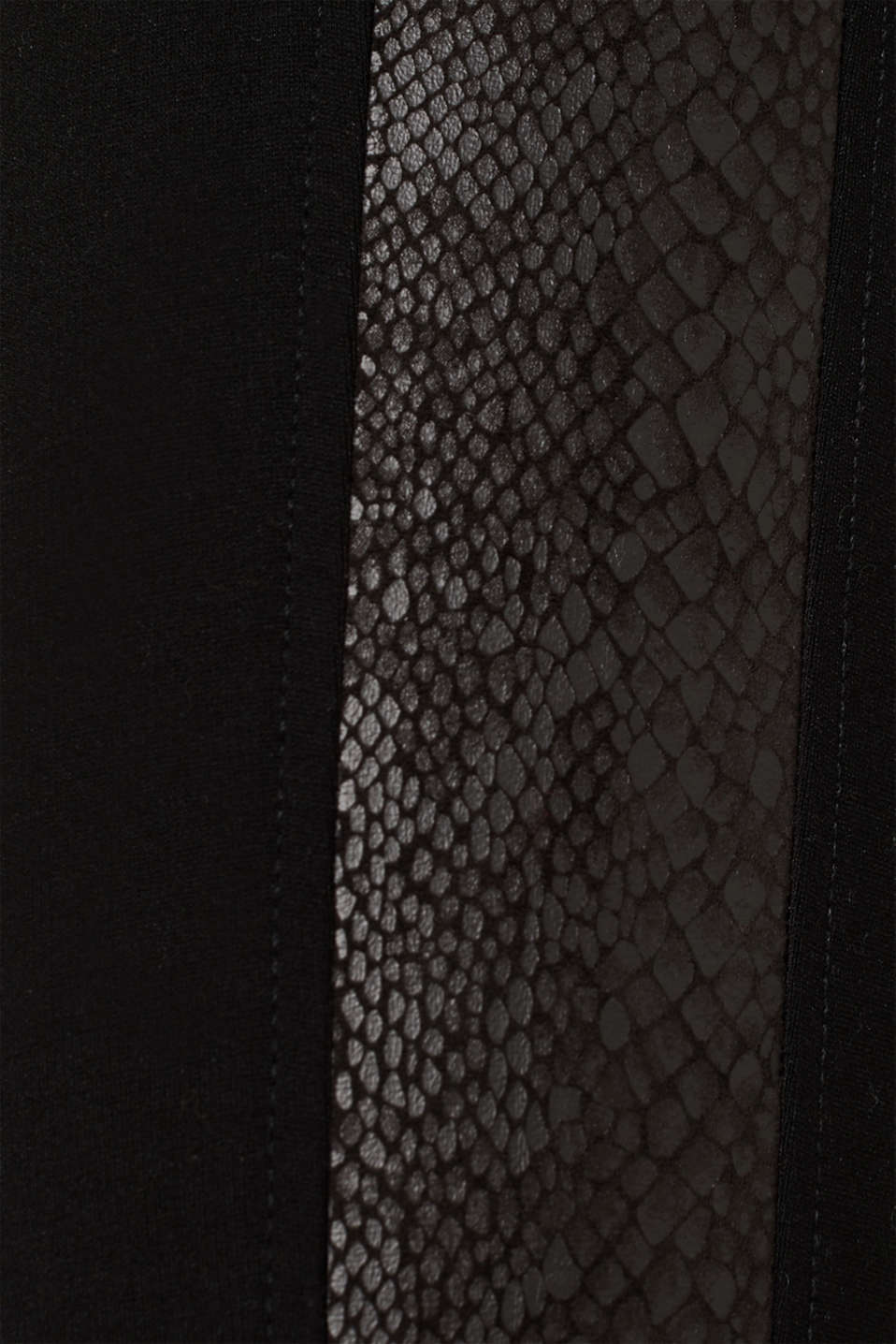 Treggings with details in a reptile look, BLACK, detail image number 4