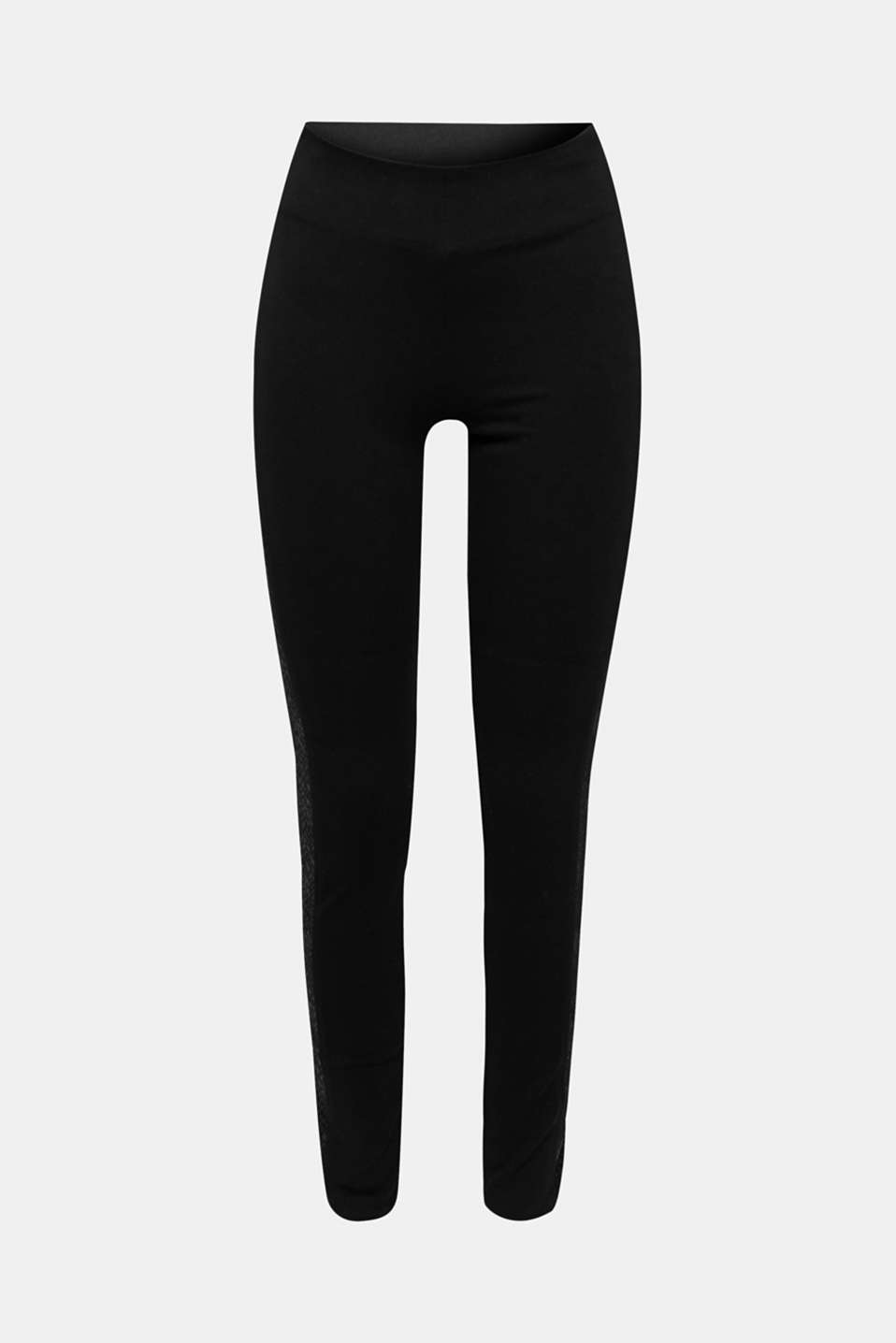 Treggings with details in a reptile look, BLACK, detail image number 6