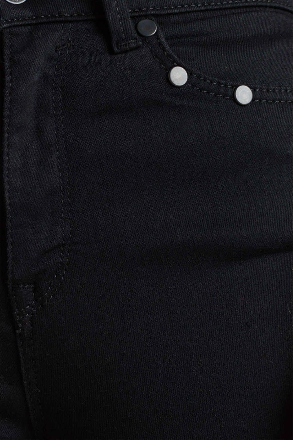 Shaping jeans with tonal studs, BLACK RINSE, detail image number 4